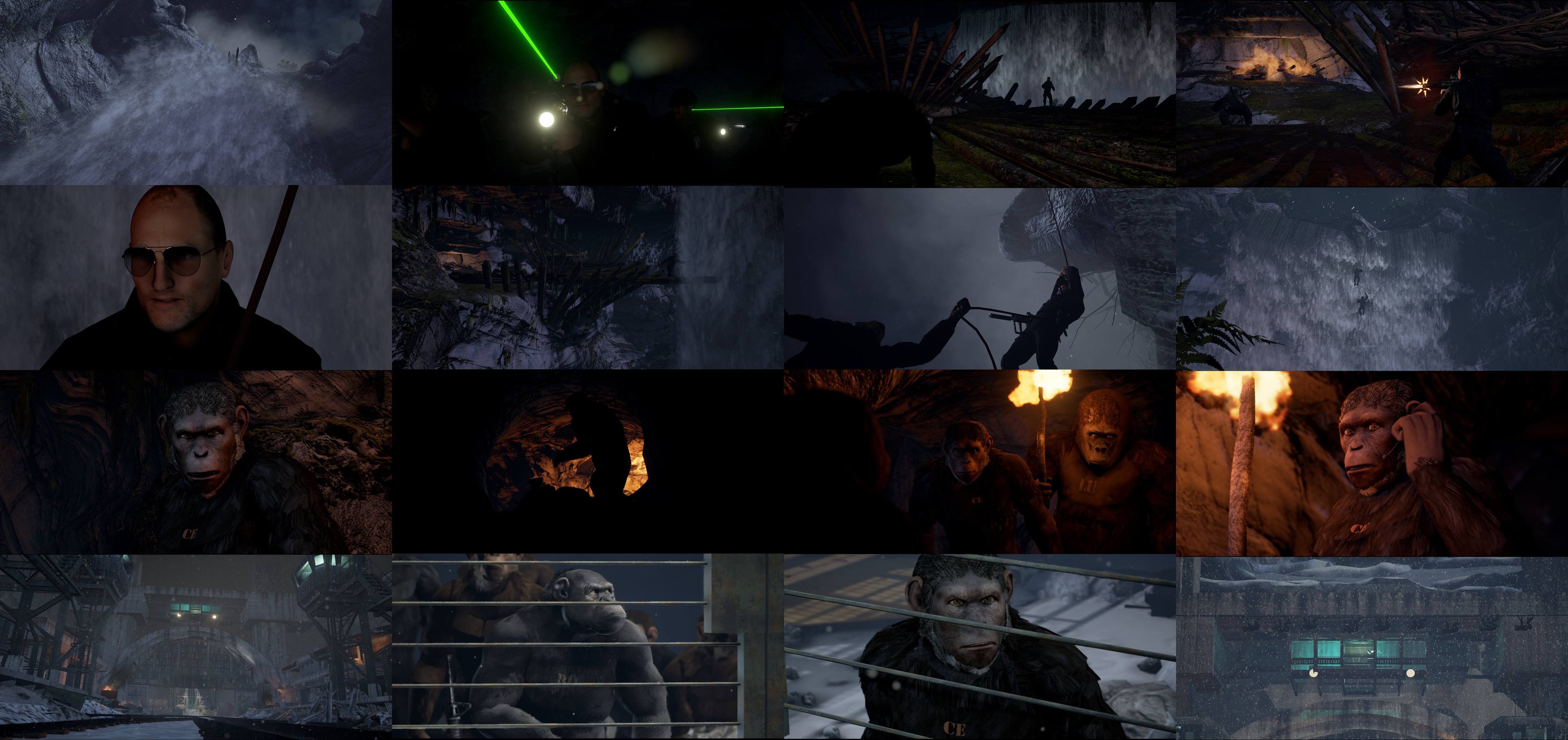 Acting as Unreal Engine Lead I created models, VFX, shaders lighting and animation for previs sequences on set of War for the Planet of the Apes. Realtime render in Unreal4