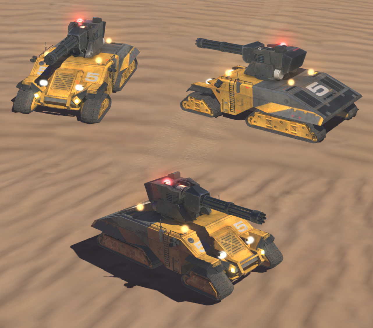 I created the model, texture, rig and some VFX work for this vehicle on Homeworld: Deserts of Kharak. In game render - Unity