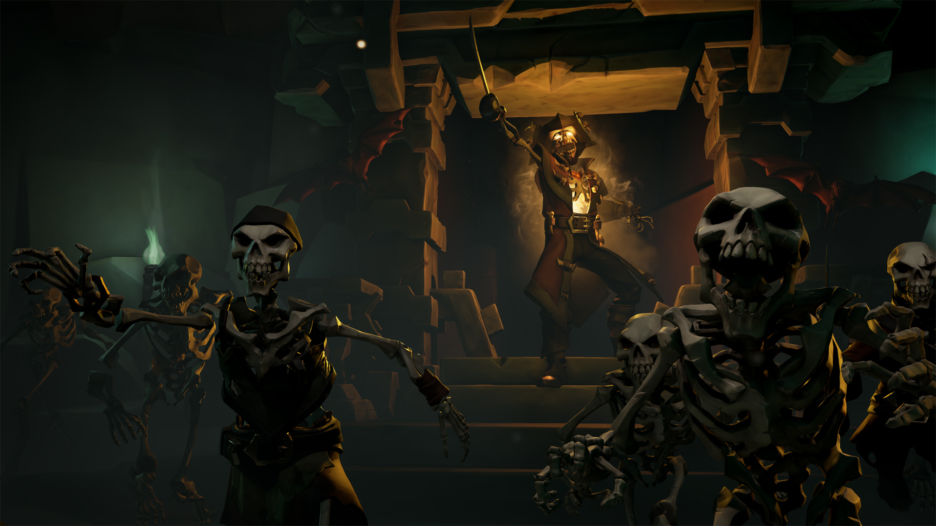 Acted as Principal Artist:  created all lighting, animation, cinematography, VFX, using Rare's base assets for their upcoming game Sea of Thieves. Created in Unreal Engine 4.
